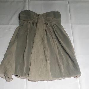 Grayish Brown strapless dress